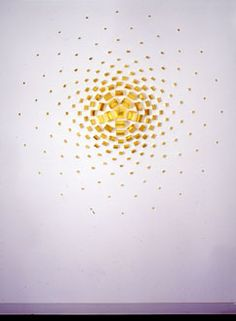 Andreas Kocks, opus 196, 2002, goldleaf on wood,  ∅ 70.8 inches, 180 cm