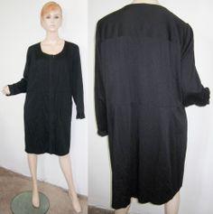 NWT $398 ELIE TAHARI AMY Viscose Elastane Black Shirt Dress 18...http://stores.shop.ebay.com/vintagefluxed