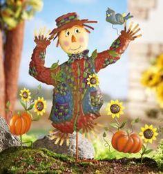 #23718 Fall Scarecrow Garden Stake Set by sensationaltreasures