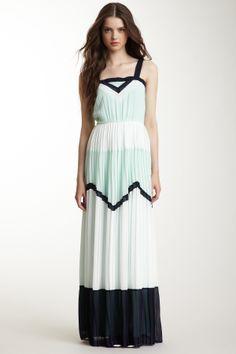 Freeway Pleated Maxi Dress