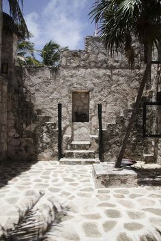 Stone stairs in Tulum ruins