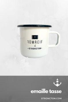 Fümreif X Stroncton Enamel Mug Bergen, Super, My Design, Coffee Mugs, Shops, Enamel, Camping, Heart, Tableware