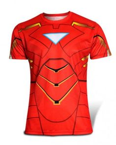 Creative Iron man stereoscopic 3d personalized t shirts