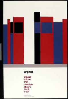 Tom Eckersley. 1975. London. Advertising libraries. Retrieved from: https://www.theguardian.com/artanddesign/gallery/2014/jan/12/tom-eckersley-centenary-posters-in-pictures