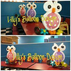 Owl Balloon Centerpieces