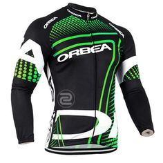 Winter Cycling Jerseys 100% Polyester For Men Long Sleeve Breathable