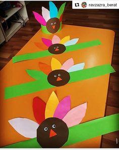 Resim Crafts For Seniors, Crafts For Teens, Diy And Crafts, Arts And Crafts, Paper Crafts, Kindergarten Thanksgiving Crafts, Thanksgiving Crafts For Toddlers, Preschool Crafts, Origami