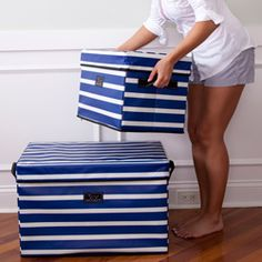$52 - Bungalow's Collapsible Storage Bins are just that-collapsible. The function doesn't stop there, they also wipe clean, have handles for easy transport, come in designer prints and can hold weight up to 300 pounds!