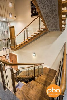 Staircase Interior Design, Home Stairs Design, Home Interior Design, House Design, Railing Design, Stairs In Living Room, House Stairs, Modern Contemporary Homes, Modern Design