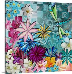 Whimsical Floral Collage I