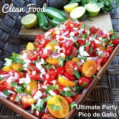 Ultimate Clean Eating Pico de Gallo http://cleanfoodcrush.com/ultimate-party-pico/