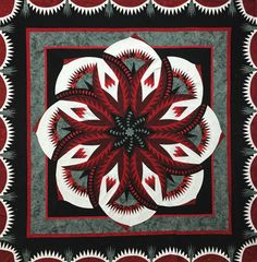Another finished top by Certified Shop, Mami's Country Quilts from Duck Lake, SK, Canada! Love the Black and Red! Very rich! Contact shop for kitting info!