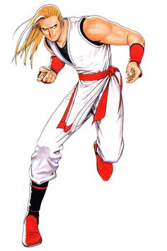 View an image titled 'Andy Bogard Art' in our Real Bout Fatal Fury Special art gallery featuring official character designs, concept art, and promo pictures. Art Of Fighting, Fighting Games, Character Poses, Game Character Design, Street Fighter Pc, Doom Demons, Snk King Of Fighters, 3 Strikes, Hero World