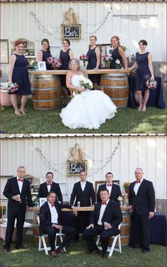 Bridal Party Pose Ideas | Vintage wedding | Photography by: Heather Marshall Photography, Central Valley, Ca