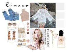"""Kimono"" by aliens-everywhere ❤ liked on Polyvore featuring Aquazzura, Robert Rose, Christian Dior, Terre Mère, Giorgio Armani and kimonos"