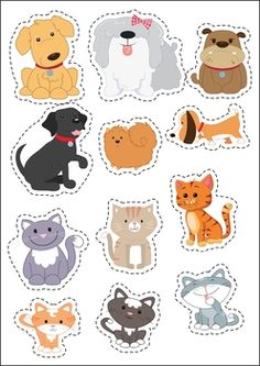 Pets Preschool and Kindergarten Centers. Sort the cats and dogs. Dog Crafts, Animal Crafts, Preschool Classroom, Preschool Crafts, Transitional Kindergarten, Creative Curriculum, Kindergarten Centers, Preschool Activities, Barn