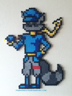 Sly Cooper bead art XD Haha, that's adorablez maaan -Will