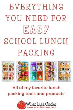 Everything you need for EASY school lunch packing - from WhatLisaCooks.com