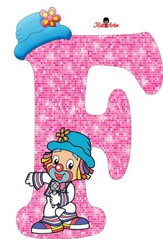 EUGENIA - KATIA ARTES - BLOG DE LETRAS PERSONALIZADAS E ALGUMAS COISINHAS: Alfabeto Patati e Patata Rosa Typography Letters, Lettering, Alphabet Letters, School Frame, Send In The Clowns, Clowning Around, Letters And Numbers, Smurfs, Letter Board