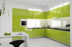 Mueble de cocina verde