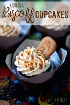 Chocolate Biscoff Buttercream Cupcakes
