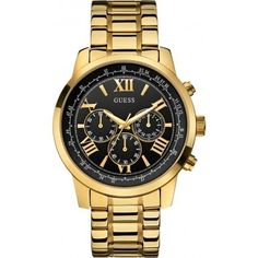 Shop a great selection of Guess Mens Horizon Two Tone Steel Chronograph Watch. Find new offer and Similar products for Guess Mens Horizon Two Tone Steel Chronograph Watch. Stylish Watches, Cool Watches, Watches For Men, Guess Watches, Brown Leather Watch, Latest Watches, Fossil Watches, Quartz Watch, Fashion Watches