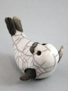 Famille de phoque sculpture animalière à la par TamarValleyArt