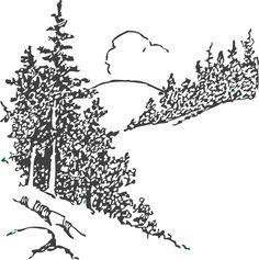 Pine Tree Clip Art | Pine Trees clip art - vector clip art online, royalty free & public ...