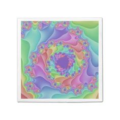 Customizable Pastel Rainbow Spiral Paper Napkins on sale at www.zazzle.com/wonderart* Click on the picture to take you directly to the product for purchase and info.