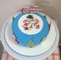 Christmas cake 2016, patchwork cutters, (Jean)