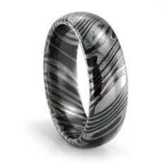 Titanium Timoku Domed Mens Wedding Band #TitaniumJewelry