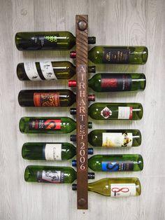 Unique Wedding Gift Established Date Wine Rack Embellishment (Copper Only - Wine Rack Sold Separately) on Etsy, $25.00