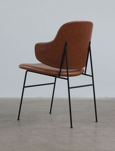 Ib Kofod Larsen; Enameled Metal 'Penguin' Chair, 1953.