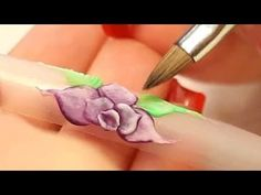 3D Nail Art Design Lily Style Flower with long leaves Tutorial Video by Naio Nails