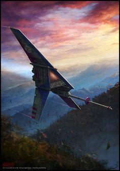 Star Wars: Edge of the Empire // T-16 Skyhopper by Mark Molnar
