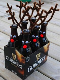 "great xmas gift for guys!  I wonder if the anterlers could be replaced with something else at other times of the year to make this ""six pack"" fun??  mmm..think on it."
