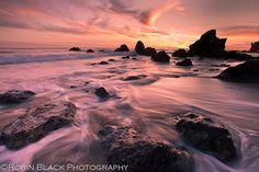 Sunset, El Matador State Beach (California) by Robin Black Photography, via Flickr