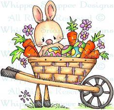 Ester Bunny - Easter - Holidays - Rubber Stamps - Shop