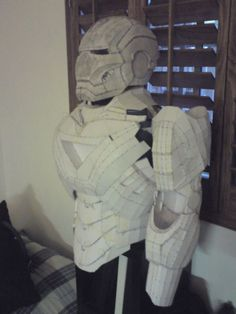 Iron Man Suit made at home... from paper and foam (possibly fiberglassed)