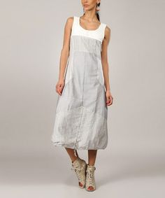 Another great find on #zulily! Gray Jamilia Sleeveless Dress by L33 by Virginie&Moi, $55 !!  #zulilyfinds