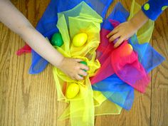 egg shakers & scarves for creative yoga play! kids yoga