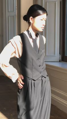Prom Outfits, Vest Outfits, Cute Outfits, Suit Fashion, Fashion Outfits, 40s Mens Fashion, Androgynous Fashion, Androgynous Clothing, Androgynous Girls