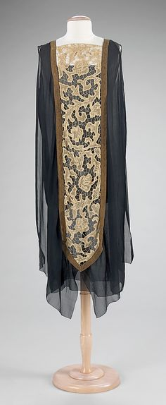 Evening Dress 1920, French, Made of silk and linen