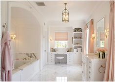 Love the colors and the glamour of this bathroom.