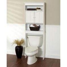 Zenith Products Wood Space Saver, White.  Just a thought to add extra space for storage.