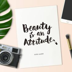Beauty is an Attitude Estee Lauder quote Typography Poster Wall Decor Motivational Print Inspirational Poster. Typography Prints, Typography Poster, Motivational Gifts, Inspirational Posters, Fashion Quotes, Estee Lauder, Poster Wall, Quote Of The Day, Letter Board