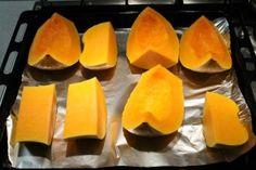 Sütőtök sütése: vágd fel darabokra Cantaloupe, Vitamins, Sandwiches, Mango, Food And Drink, Thanksgiving, Cooking Recipes, Pumpkin, Diet