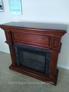 Brick Fireplace Makeover, White Fireplace, Faux Fireplace, Fireplace Mantels, Fireplaces, Fireplace Update, Fireplace Design, Portable Fireplace, Weathered Paint