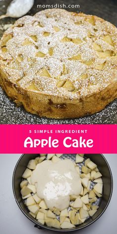 This apple cake or sharlotka makes for the best dessert. This recipe is easy and perfect for any day. This apple cake makes for a delicious and simple dessert for fall and it only requires 5 ingredients and 25 minutes to make. This cake can be described as an apple sponge cake, it's simple and can be served any day for any occasion. #applecake #sharlotka #falldessert #dessertrecipes #easydesserts #cakerecipes #applerecipes #dessert