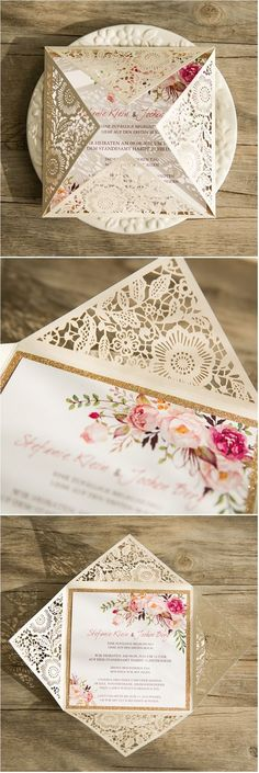 An unforgettable wedding day needs a unique invitation card. Here're some ideas to make your card stand out.